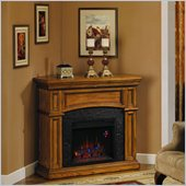 Classic Flame Nantucket Corner Electric Fireplace in Premium Oak