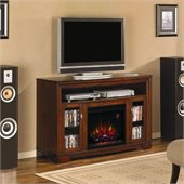 Classic Flame Palisades Electric Fireplace and TV Stand in Empire Cherry