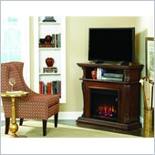 Classic Flame Corinth Fireplace in Burnished Walnut