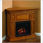 Classic Flame Metropolis Fireplace in Antique Oak