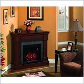 Classic Flame Franklin Fireplace in Brown Cherry