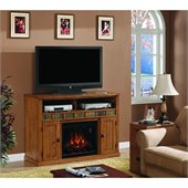 Classic Flame Sedona Fireplace in Classic Oak