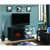 Classic Flame Luxe Fireplace in Black Metal