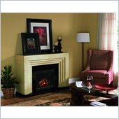 Classic Flame Ranier Fireplace in Real Travertine