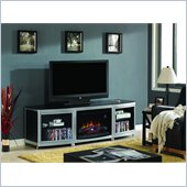 Classic Flame Gotham Fireplace in Black and Silver