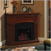 Classic Flame Nantucket Corner Electric Fireplace in Golden Cherry