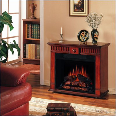 Classic Flame Strasburg Free Standing Electric Fireplace in Vintage Cherry 