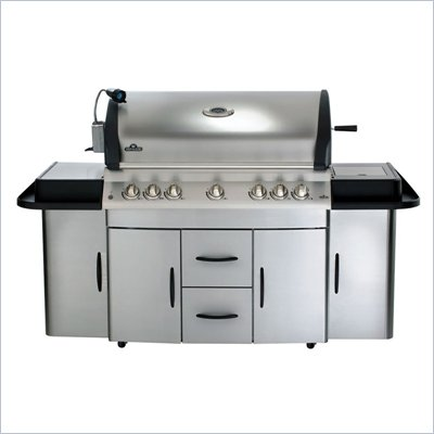 Napoleon Grills Mirage Cabinet 730 Series Cart Infrared Grill in Stainless Steel