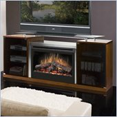 Dimplex Symphony Media Marana TV Stand with Electric Fireplace in Cherry