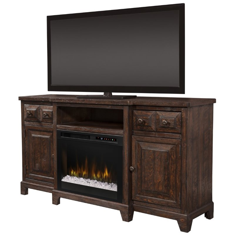 Dimplex Heinrich 66 Fireplace TV Stand in Wentworth Brown