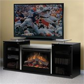 Dimplex Marana TV Stand with Electric Fireplace in Black