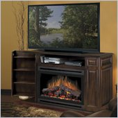 Dimplex Atwood TV Stand with Electric Fireplace in Burnished Walnut