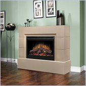 Dimplex Mason Free Standing Electric Fireplace in Taupe Finish