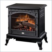 Dimplex Electraflame Lincoln Compact Free Standing Stove Heater in Black