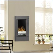 Dimplex Electraflame Wall Mount Electric Fireplace with Rectangular Trim in Gunmetal