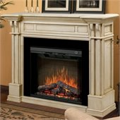 Dimplex Kendal Electric Fireplace Parchment Mantel