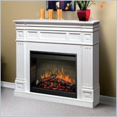 Dimplex Traditional Mantel Electric Fireplace in Preprimed White