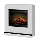 Dimplex Contemporary Covertable Corner Electric Fireplace in White
