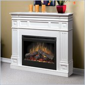 Dimplex Traditional 33 Electric Log Fireplace in White