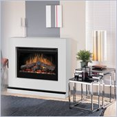 Dimplex Contemporary Covertable Corner 33 Electric Fireplace in White