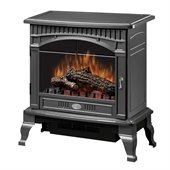 Dimplex Lincoln Traditional Stove in Gloss Pewter