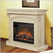 Dimplex Bromley Mantel Electric Fireplace in Parchment