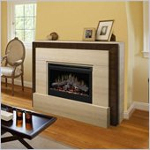Dimplex Gibraltar Mantel Electric Log Fireplace in Tavertine