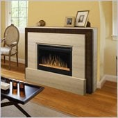 Dimplex Gibraltar Mantel Electric Fireplace in Tavertine