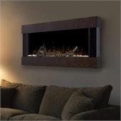 Dimplex Chalet Wall Mount Electric Fireplace in Mocha Ash