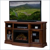 Dimplex Portobello Electric Fireplace Media Console in Walnut