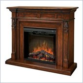 Dimplex Symphony Encore Torchiere Free Standing Electric Fireplace in Burnished Walnut