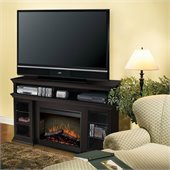Dimplex Symphony Media Bennett TV Stand with Electric Fireplace in Espresso