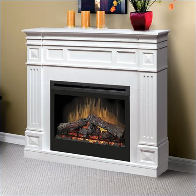 Dimplex Traditional 33&quot; Electric Log Fireplace in White