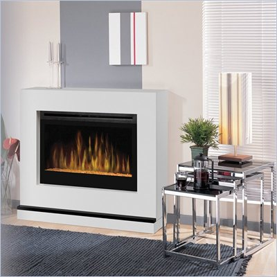 "Dimplex Contemporary Covertable Corner 33"" Electric Fireplace in White"