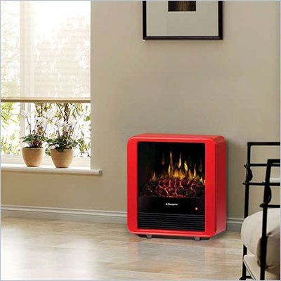 Dimplex Mini Free Standing Cube Stove in Red