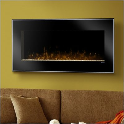 Dimplex Dusk Wall Mount Electric Fireplace in Black