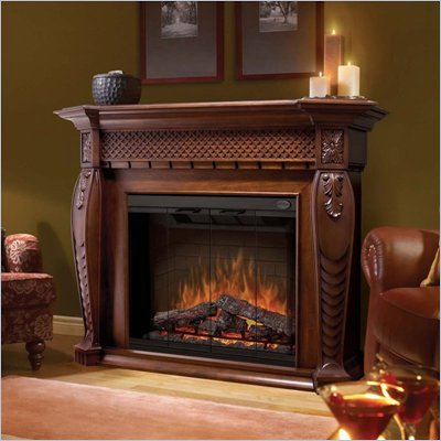 Dimplex Electraflame Vienna Electric Fireplace in Burnished Walnut
