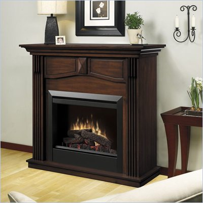 Dimplex Holbrook Free Standing Electric Fireplace in Burnished Walnut