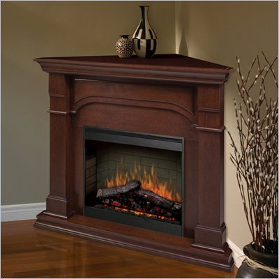 Dimplex Symphony Maestro Oxford Corner Electric Fireplace in Cherry
