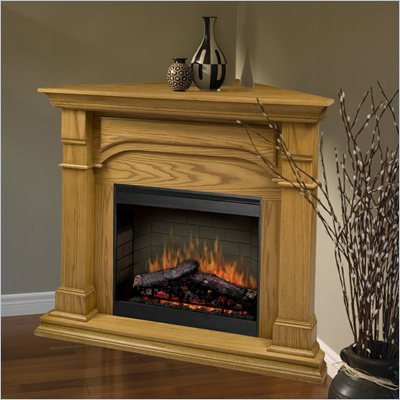 Dimplex Symphony Maestro Oxford Corner Electric Fireplace in Medium Oak