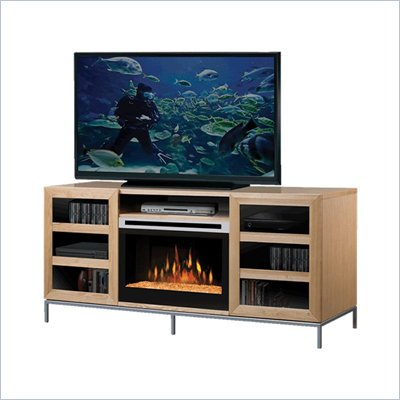 Dimplex Windsor Electric Fireplace TV Stand in Natural Finish