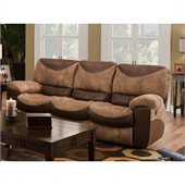 Catnapper Portman Reclining Sofa in Saddle and Chocolate