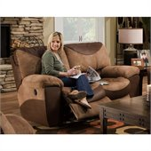 Catnapper Portman Reclining Loveseat in Saddle and Chocolate
