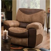 Catnapper Portman Chaise Rocker Recliner Chair in Saddle and Chocolate