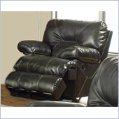 Catnapper Cortez Chaise Glider Recliner Chair in Dark Brown Bonded Leather