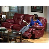 Catnapper Cortez Reclining Sofa in Red Bonded Leather