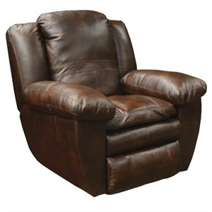 Catnapper Sonoma Leather Rocker Recliner in Sable