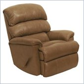 Catnapper Bentley Leather Touch Chaise Rocker Recliner Chair in Mushroom