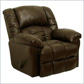 Catnapper Winchester Bonded Leather Chaise Rocker Recliner in Tobacco