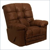 Catnapper Cloud Ten Leather Touch Chaise Rocker Recliner Chair in Sable
